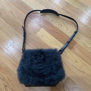 Banana Republic shearling crossbody bag